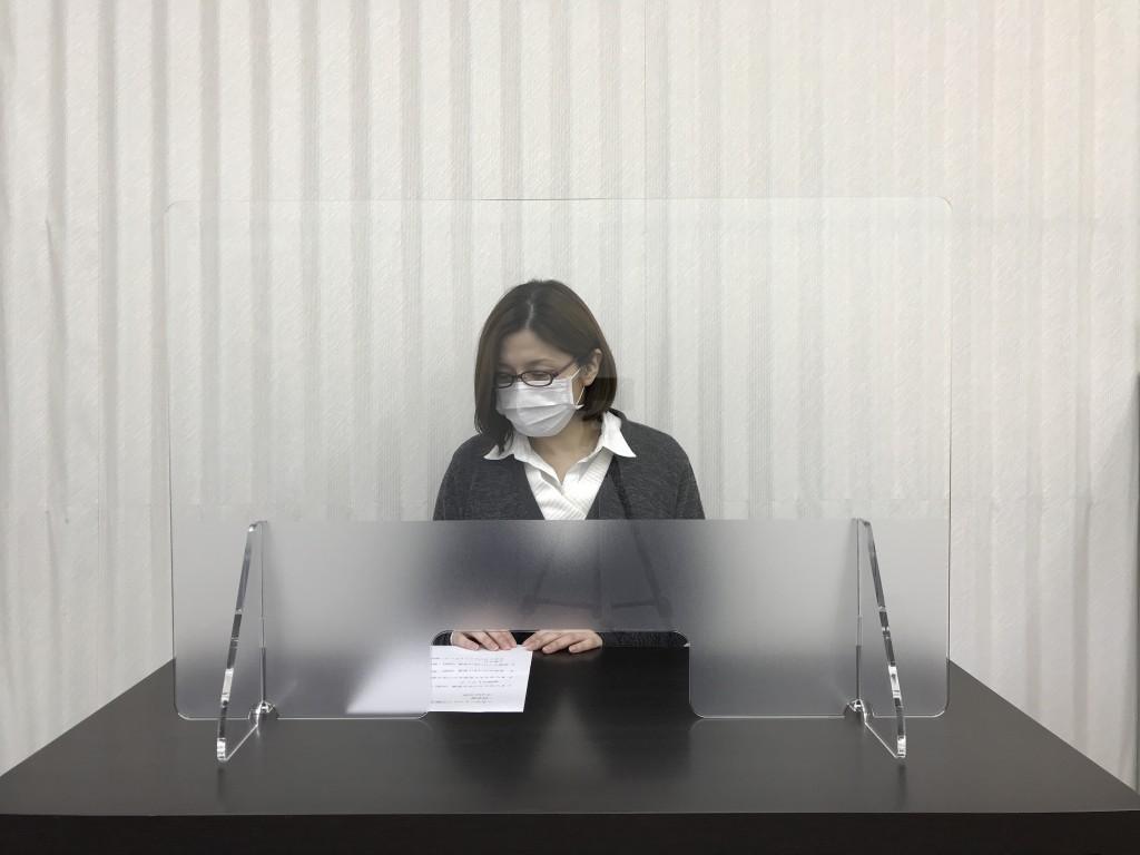 感染予防飛沫防止パネルスタンド